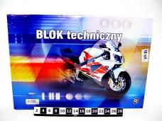 BLOK TECHN.BIALY A3 Q 250g...