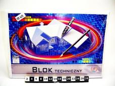 BLOK TECHNICZNY A3 BIALY 0372