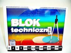 BLOK TECHNICZNY A4 BIALY 0365