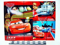 TECZKA Z GUMKA CARS 5390