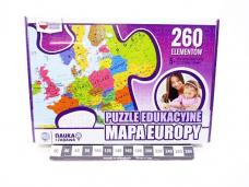 PUZZLE MAPA EUROPY 260EL 7149