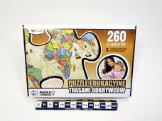 PUZZLE TRASAMI ODKRYWCOW 8047